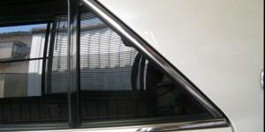 三角窓の隙間もありません