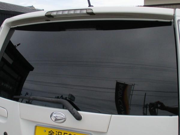 車内からの視界。10年経っても色あせ色抜けなし